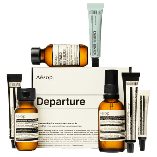 """**Travel 'Departure' Kit by Aesop, $54 from [Adore Beauty](https://www.adorebeauty.com.au/aesop/aesop-departure-travel-kit.html