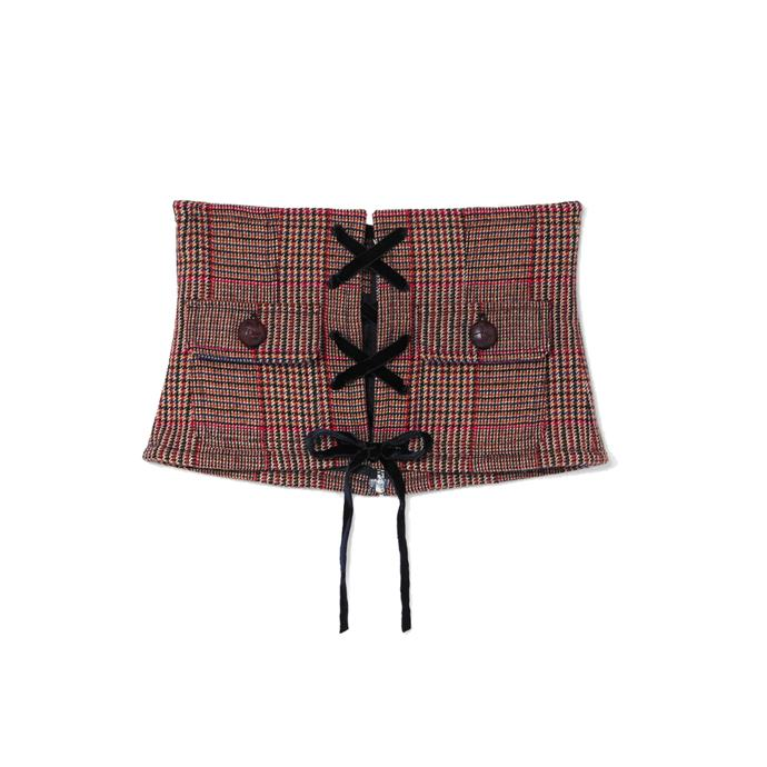 "Corset belt by Miu Miu, $960 at [NET-A-PORTER](https://www.net-a-porter.com/au/en/product/1172449/Miu_Miu/velvet-and-leather-trimmed-prince-of-wales-checked-wool-blend-corset-belt|target=""_blank""