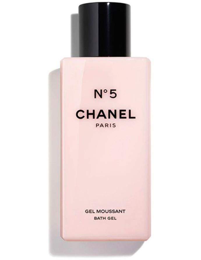 """**The N°5 Bath Gel by Chanel, $84 from [Myer](https://www.myer.com.au/p/the-cleansing-cream-185047840-185050090