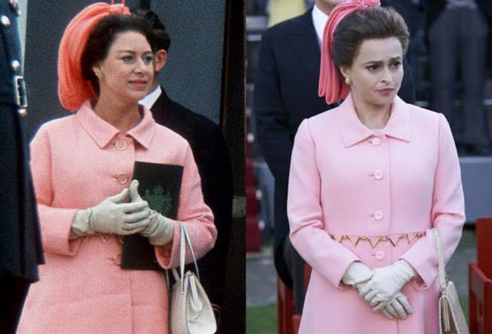 Princess Margaret at Prince Charles' investiture.