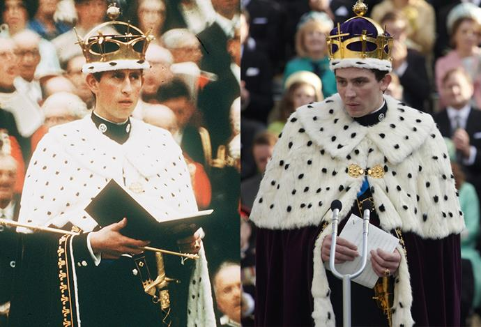 Prince Charles' investiture robes.