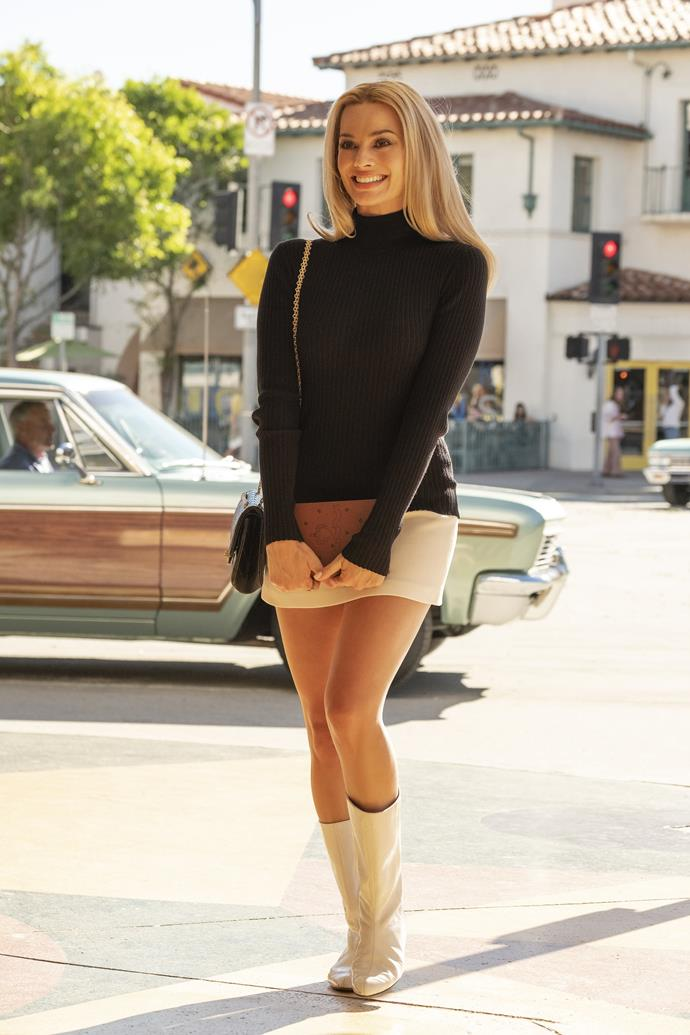 Sharon Tate's white boots in *Once Upon a Time in Hollywood* (2019)