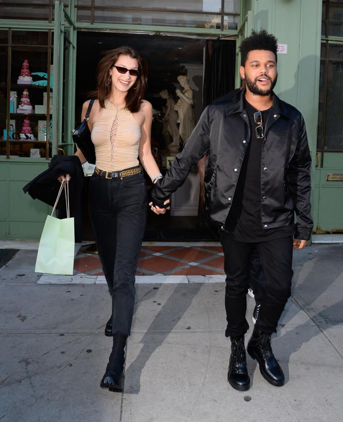 Hadid and The Weeknd photographed together in October 2018.