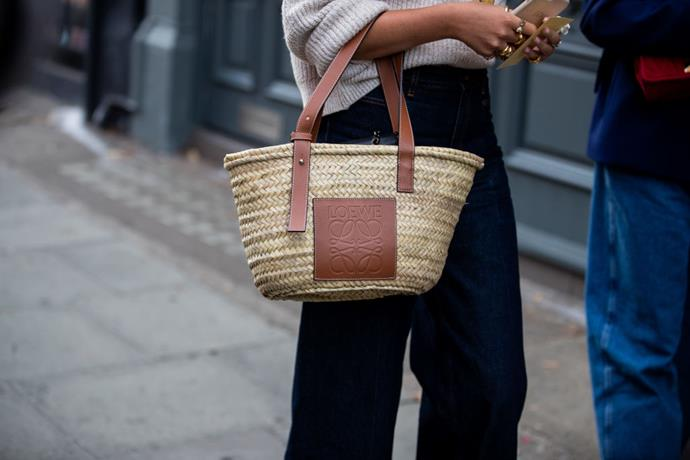 """*Starting at $515, available at [Net-a-Porter](https://www.net-a-porter.com/au/en/product/1100039/Loewe/small-leather-trimmed-woven-raffia-tote