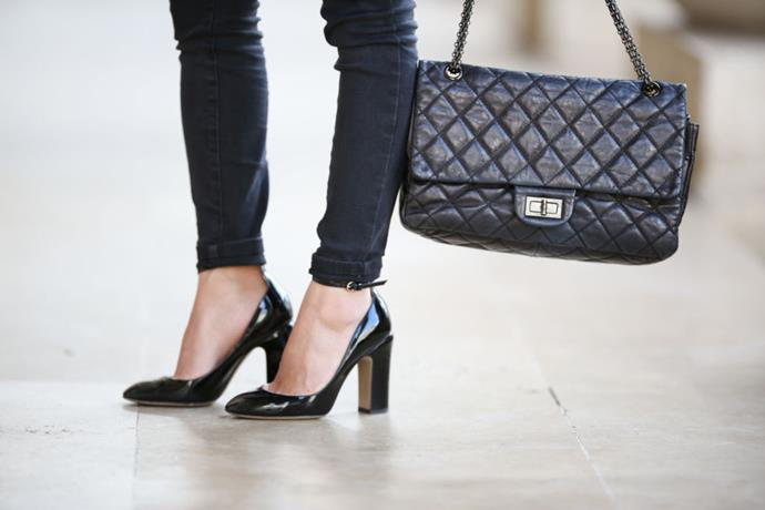 "*Starting at $8,760, shop at [Chanel](https://www.chanel.com/au/fashion/p/A37586Y04634C3906/2-55-handbag-aged-calfskin-gold-tone-metal/ target=""_blank"" rel=""nofollow"")*"