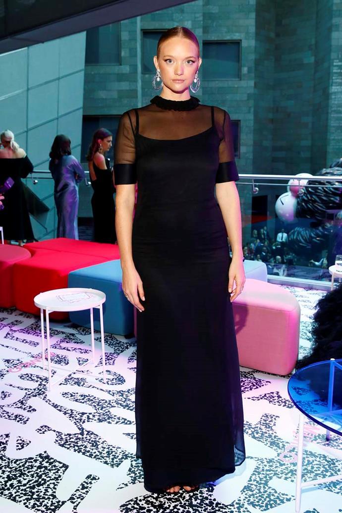 Gemma Ward, in Lola Varma Bridal.