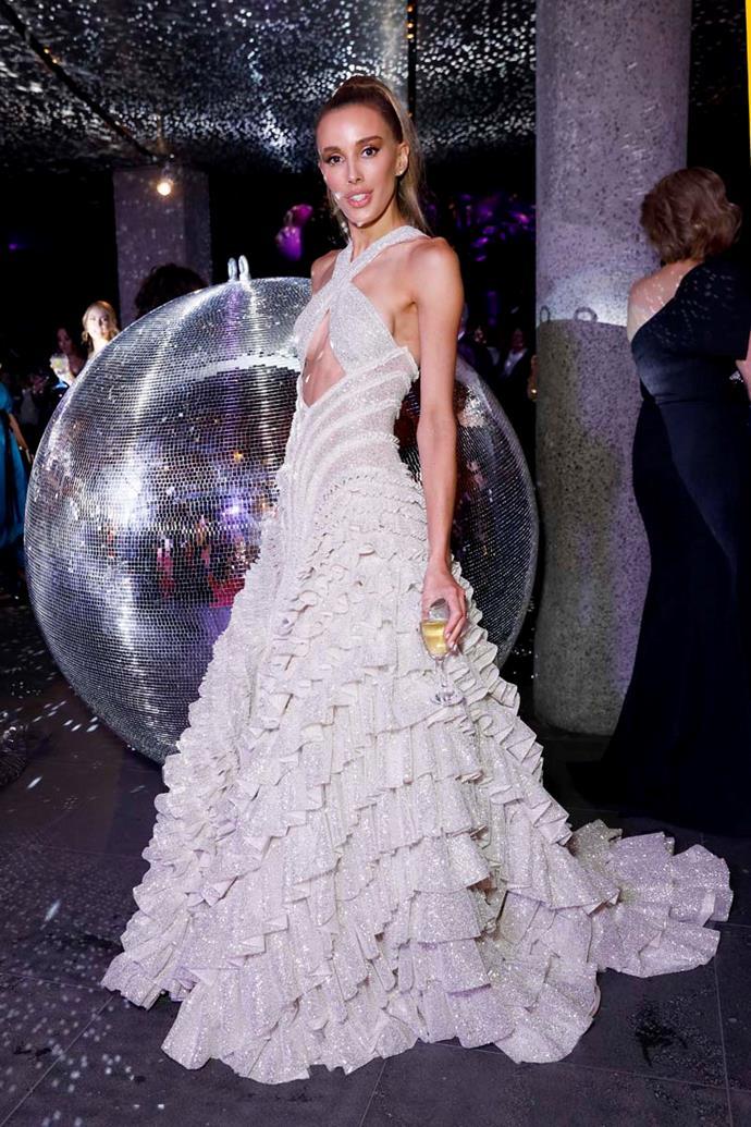 Rebecca Judd, in J'Aton Couture.