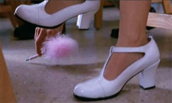 Cher's white T-bars in *Clueless* (1995).