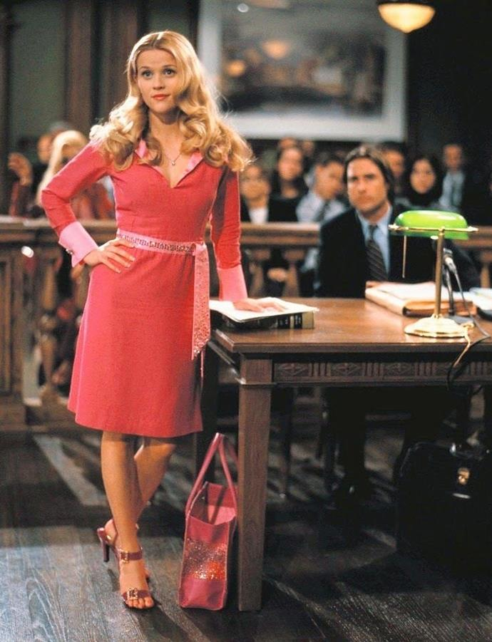 Elle Woods' buckled pink sandals in *Legally Blonde* (2001).