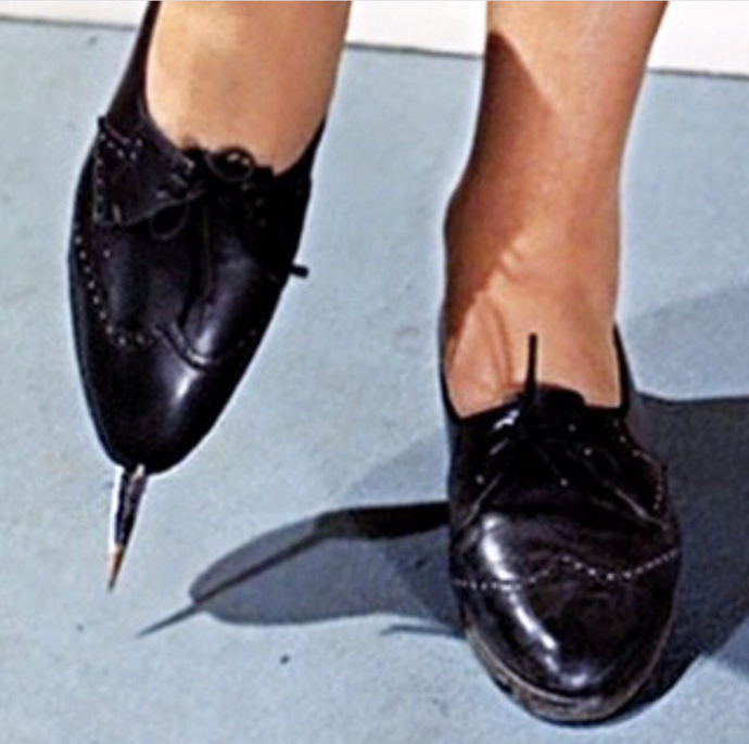 Rosa Klebb's lethal shoes in *From Russia with Love* (1963).