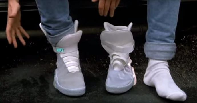 Marty McFly's self-lacing sneakers in *Back to the Future* (1985).