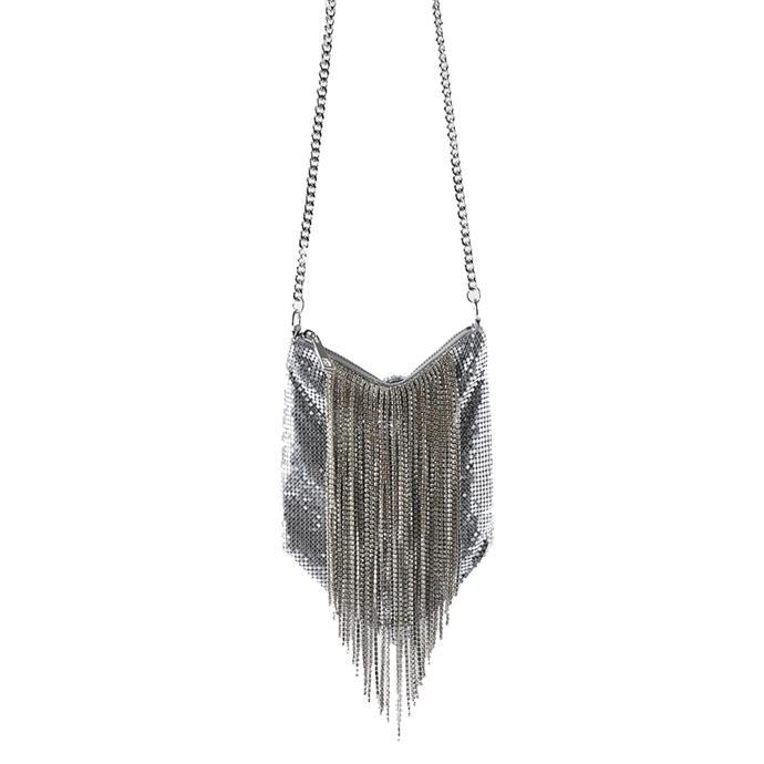"Bag, $69.95 by [Zara.](https://www.zara.com/au/en/mesh-crossbody-bag-with-diamant%C3%A9-fringe-p16664004.html?v1=22928058&v2=1277497|target=""_blank""|rel=""nofollow"")"