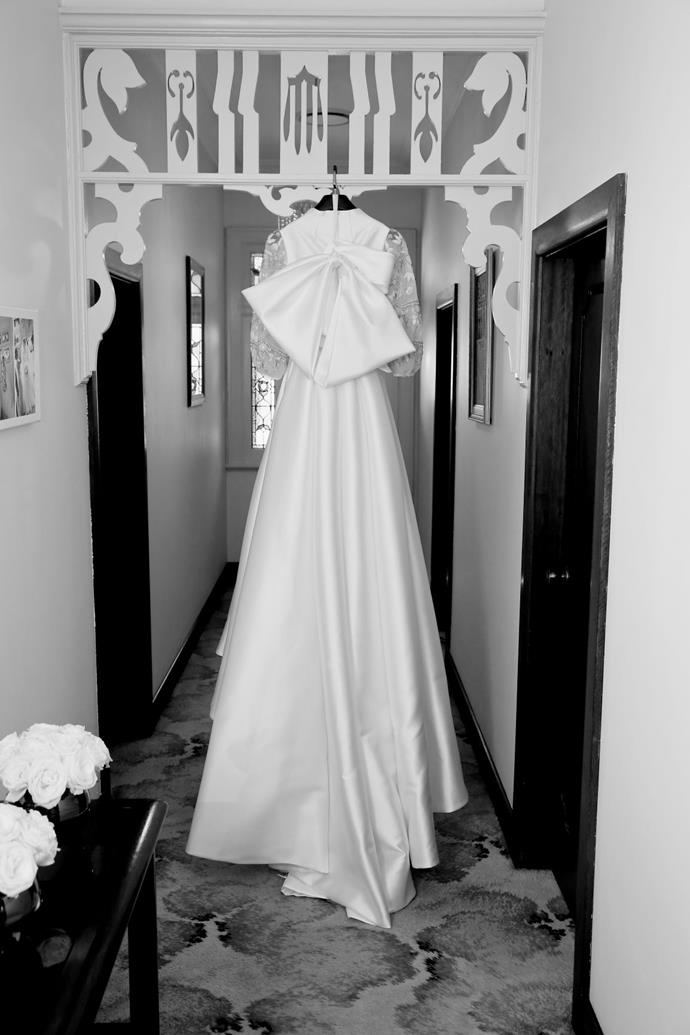 **On finding the dress:** It was a no brainer; Steven Khalil is a genius. From the first sketch, there was no doubt in my mind about proceeding. My calico was so realistic I wanted to keep it! The finished product was unreal. It was classic, new and represented my style perfectly.