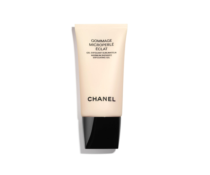 """**Gommage Microperlé Éclat Radiance Exfoliating Gel by Chanel, $75 at [David Jones](https://www.davidjones.com/gommage-microperle-eclat-radiance-exfoliating-gel-75ml-20275954