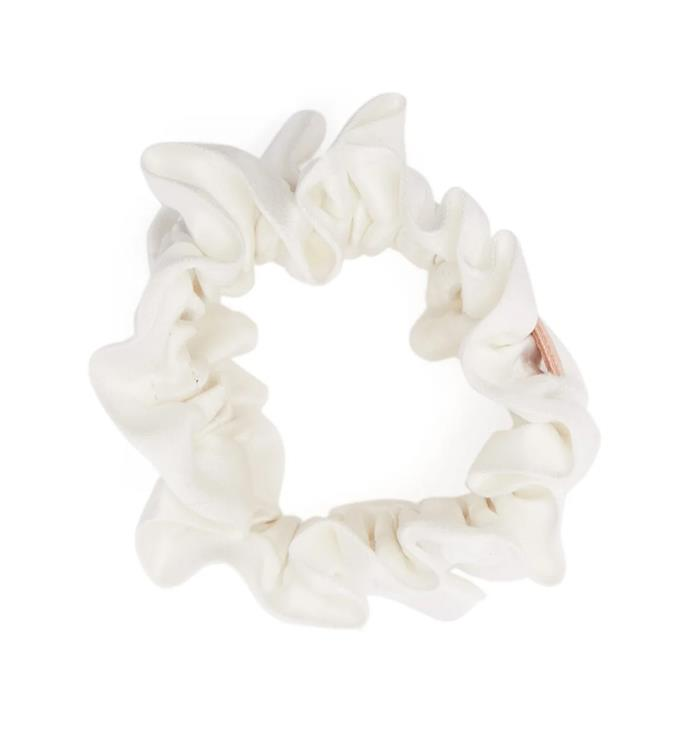 """Lunya ruched silk scrunchie, $28.54 from [MATCHES](https://fave.co/362CSXU