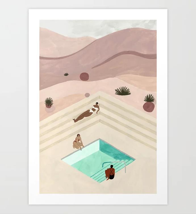"""Amangiri art print by Isabelle Feliu, $33.74 from [Society6](https://fave.co/2radpgs