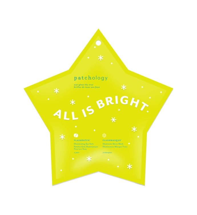 """Patchology All Is Bright sheet mask, $28 from [Mecca](https://www.mecca.com.au/patchology/all-is-bright/I-040236.html?cgpath=gifts-giftsbycategory-skincar...