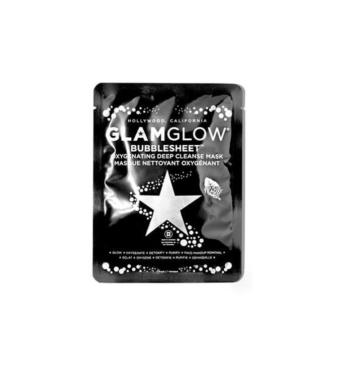 "GLAMGLOW BUBBLESHEET™ Oxygenating Deep Cleanse Mask, $14 from [Mecca](https://www.mecca.com.au/glamglow/bubblesheet-oxygenating-deep-cleanse-mask/V-030752.html?cgpath=gif...|target=""_blank""|rel=""nofollow"")."
