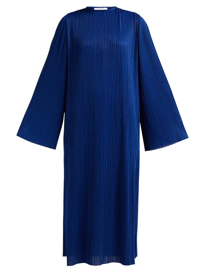 """Micro-pleated dress by Givenchy, $1,277 at [MATCHESFASHION](https://fave.co/36aVllw
