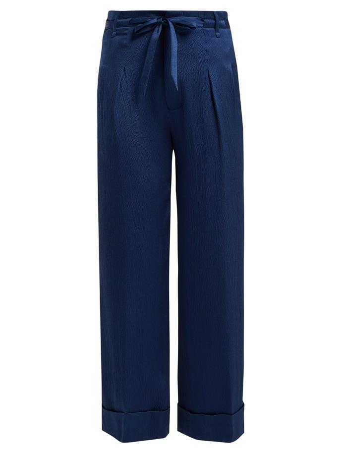 """Silk trousers by Roland Mouret, $579 at [MATCHESFASHION](https://fave.co/2LpxbvC