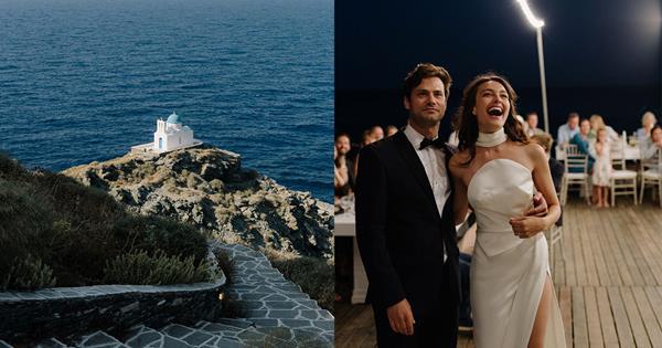 Sifnos Wedding: A Real Bride's Greek Island Nuptials | Harper's BAZAAR Australia