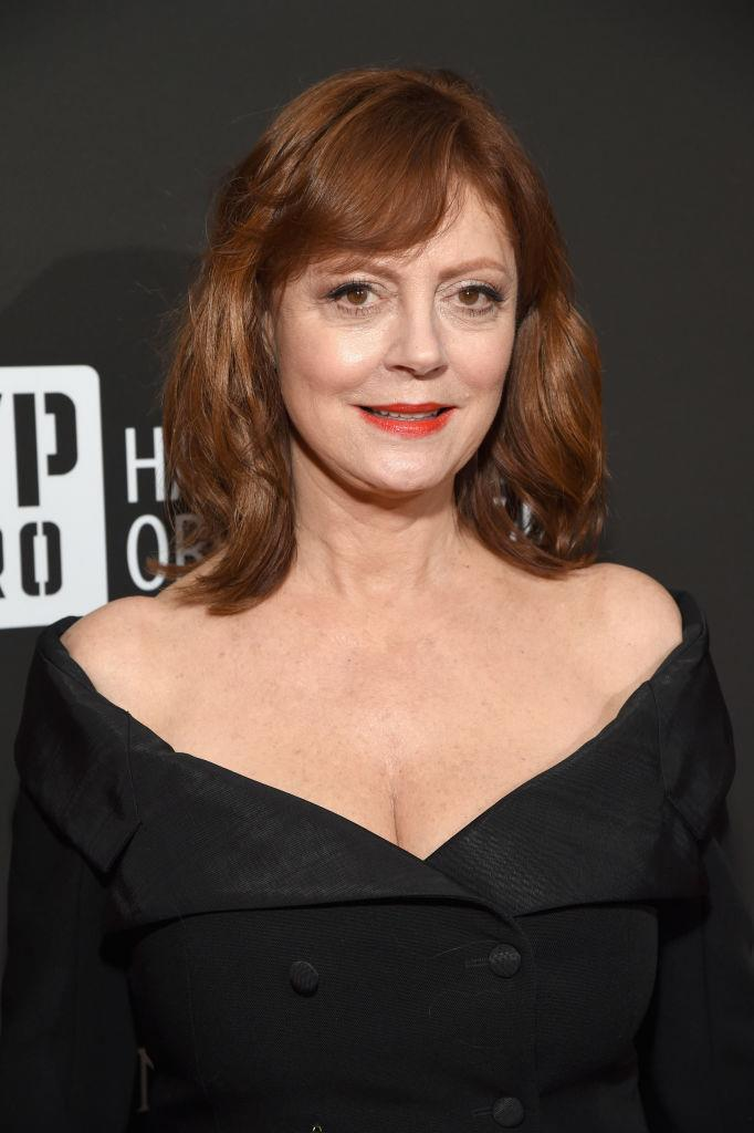 "**Susan Sarandon**<br><br>  Although she keeps her  silver streaks hidden at this stage, Susan Sarandon appears to be looking forward to the day that she can fully embrace the grey.<br><br>  ""I have a little tiny bit of grey hair but some of my sisters that are really blessed with really thick, fabulous hair turned grey much faster,"" Sarandon told *People* in 2017.<br><br>  ""So mine was really late, really really late. I'd like it if it was a really dramatic streak like in *101 Dalmatians*, one of those things, I think that would be cool but at the moment I don't really think I have enough to go grey and mean it. That's going to be a little while coming I think."""