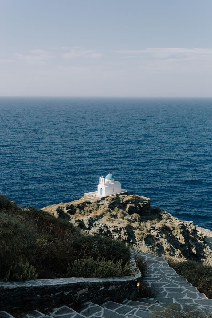**On the location:** The Island of Sifnos lies in the Cyclades between Serifos and Milos.