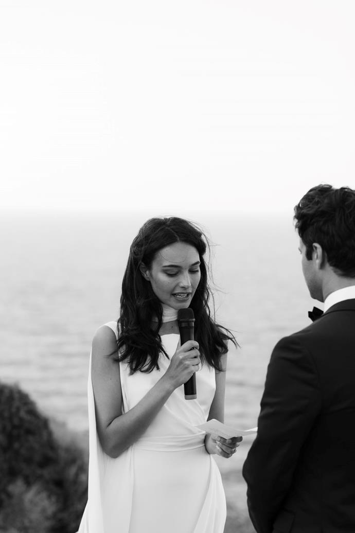 **On the ceremony:** The unforgettable ceremony on Saturday was held on a cliff in Kastro village, overlooking the Seven Martyrs Church and the ocean.