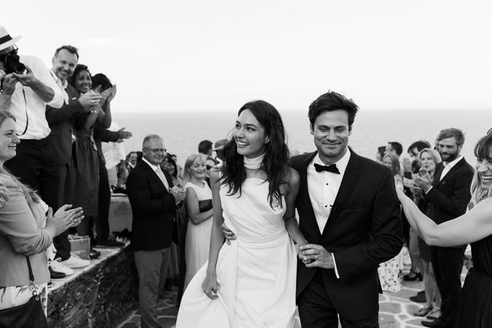 **On the ceremony:** The officiators, who were the couple's best friends, prepared an interactive ceremony in three different languages: English, German, Polish. This was the very first wedding held on the particular cliff and so it attracted the locals and tourists to celebrate with the couple.