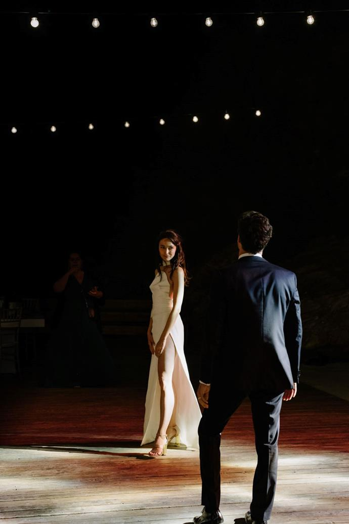 **On the first dance:** We also took some Tango lessons and surprised everyone with a little dance.