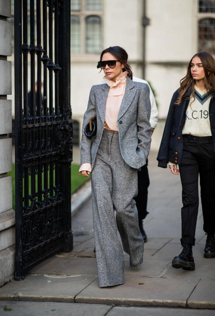 ***Victoria Beckham: Now*** <br><br> By 2019, VB's style is more streamlined than it's ever been. The singer-turned-designer now favours tailored suiting and a modern, consistent wardrobe aesthetic, plenty of which she channels into her eponymous label, Victoria Beckham. Regardless, she's still as glamorous as ever.