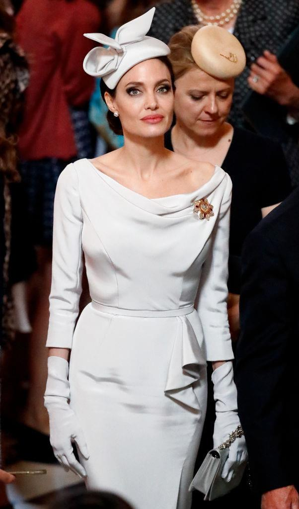 ***Angelina Jolie: Now*** <br><br> As a United Nations Goodwill Ambassador and accomplished Hollywood actress, Jolie has left her rebellious fashion firmly in the past, opting for polished, dignified looks by the likes of Celine, Atelier Versace and Ralph & Russo.
