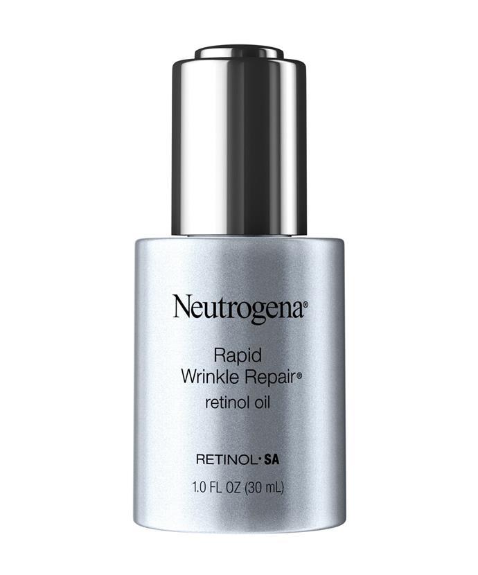 "**Best Retinol Treatment** <br><br> Neutrogena Rapid Wrinkle Repair Retinol, $43 at [Chemist Warehouse](https://www.chemistwarehouse.com.au/buy/93043/neutrogena-rapid-wrinkle-repair-retinol-oil-30ml|target=""_blank"")."