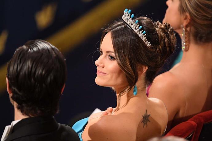 Princess Sofia wearing the 'Palmette Tiara.'
