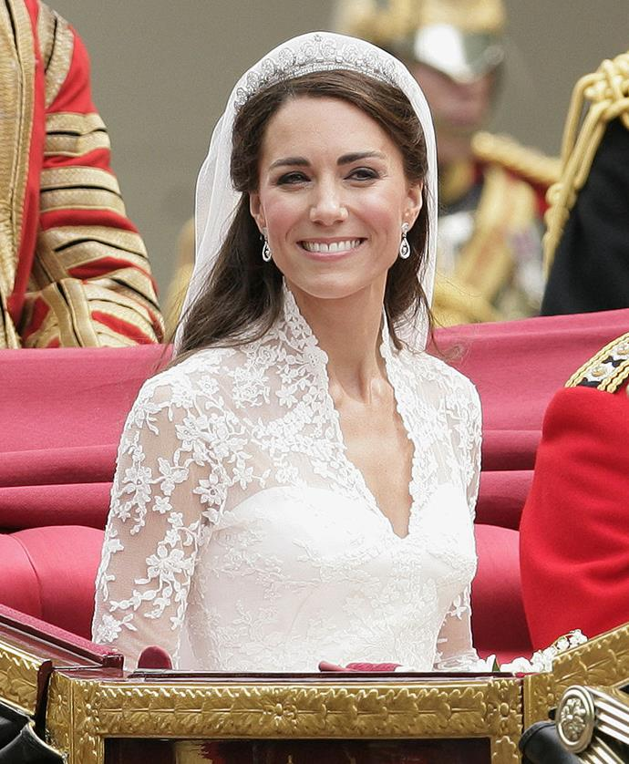 "**Kate Middleton's half-up-half-down 'do**<br><br>  The Duchess of Sussex's wedding hairstyle isn't just one of the most memorable of all time, it's considered one of the most rebellious looks in royal history.<br><br>  Breaking protocol, Kate Middleton's half-up-half-down look was reportedly meant to have been a full up-do, in line with [tradition](https://www.harpersbazaar.com/uk/beauty/hair/a25302828/kate-middleton-wedding-hair-advice/|target=""_blank""