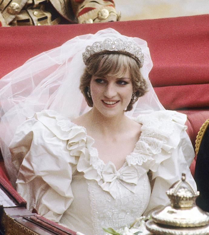 "**Princess Diana's polished shag and fringe**<br><br>  Princess Diana was known for frequently [breaking with royal protocol](https://www.harpersbazaar.com.au/celebrity/14-ways-princess-diana-broke-royal-protocol-12301|target=""_blank""), and keeping her signature polished shag for her 1981 wedding to Prince Charles was certainly no exception."