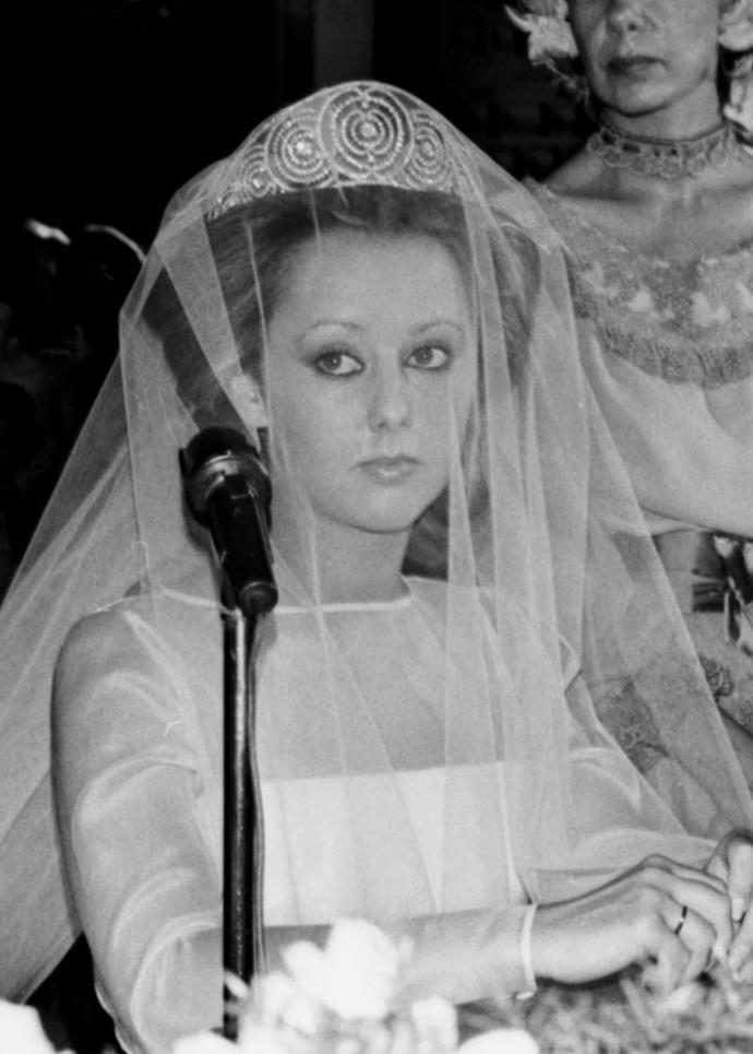 **The tiara:** The Alba Russian Tiara.<br><br> **The wearer:** Cayetana Fitz-James Stuart, 18th Duchess of Alba.<br><br> **The details:** Originating from Russia for a Spanish royal, this tiara centred around circular diamond designs.<br><br>