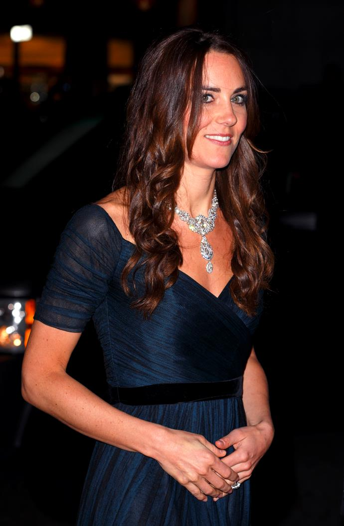 Kate wearing the  'Nizam Of Hyderabad' Necklace in 2014.