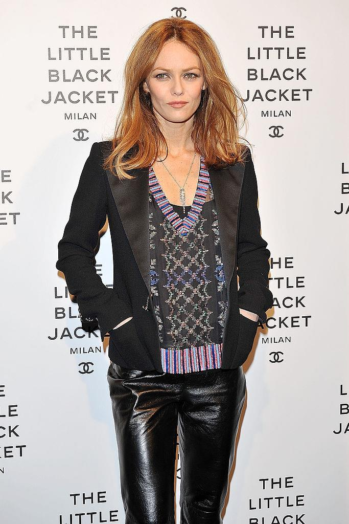 Paradis at the opening of Chanel's 'The Little Black Jacket' exhibit in Milan in 2013.