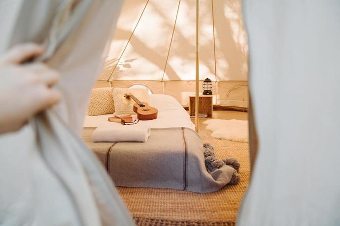 """**PERTH: Margaret River**<br><br>  Stay at: [Wild Goose Camping](https://www.wildgoosecamping.com.au/ target=""""_blank"""" rel=""""nofollow"""") (which lets you set up wherever you like!).<br><br>"""