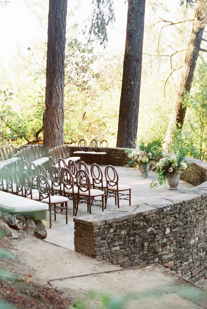 **On the overall vision for the day:** We wanted a warm, intimate, romantic, heartfelt and cinematic celebration amongst the vineyards of Napa.