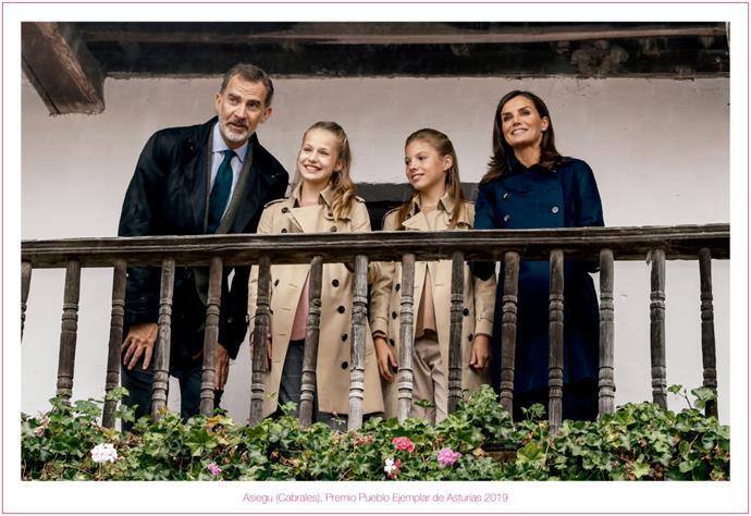 The Spanish Royals' 2019 Christmas Card.
