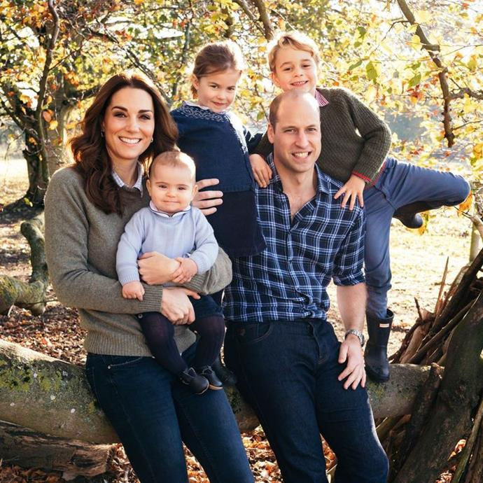 The Duke and Duchess of Cambridge's family Christmas card in 2018.