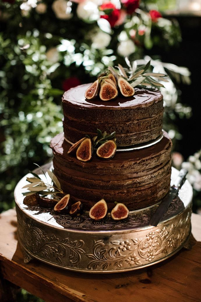 **On the cake:** I have a chocolate obsession so it was always going to be a chocolate cake. The brief was nailed with a two tier layered chocolate mud cake with chocolate ganache.