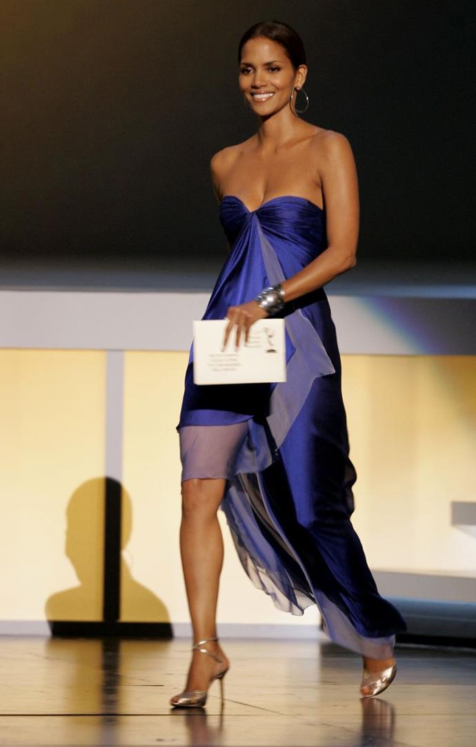 Halle Berry wearing Ungaro in 2005.