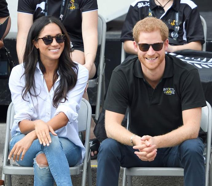 Meghan Markle and Prince Harry at the Invictus Games in Toronto in 2017.