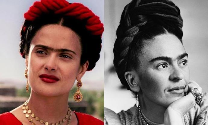 **Salma Hayek as Frida Kahlo in *Frida* (2002)**