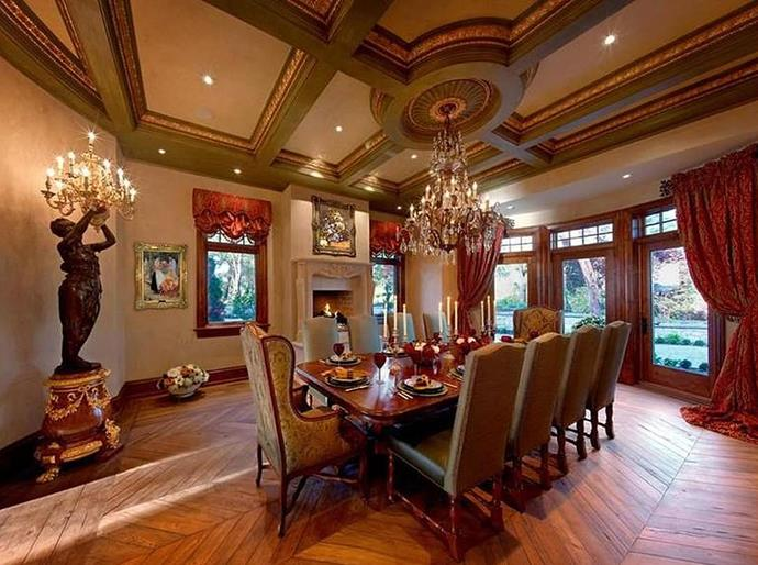 A dining room.<br><br>  *Image via Sotheby's International Realty*