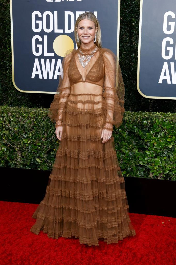 "**Gwyneth Paltrow in Fendi at the 2020 Golden Globe Awards** <br><br> Of all of Paltrow's unexpected red carpet ensembles, her outfit for the [2020 Globes](https://www.harpersbazaar.com.au/fashion/golden-globes-2020-red-carpet-19755|target=""_blank"") takes the cake—a stunning, if aesthetically divisive, sheer gown by Fendi. Though the look may well have resulted in a wardrobe malfunction, we can't help but love Paltrow's enduring desire to wow us, instead of opting for more conservative, traditional looks at awards shows."