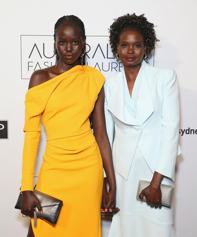 "Adut Akech and Mary Akech. <br><br> *Image: [@adutakech](https://www.instagram.com/p/Bc_EA3XAml-/|target=""_blank""